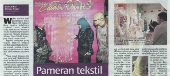 Berita Harian_18-Nov-2013_ms8_Pameran tekstil berprestij