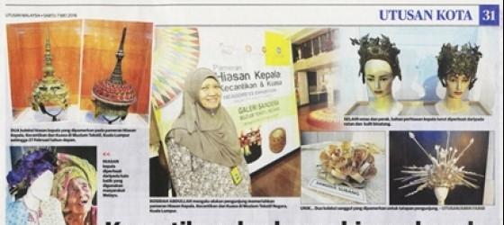 7.5.2016 UTUSAN MALAYSIA KECANTIKAN DAN KUASA HIASAN KEPALA