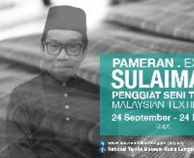Pameran Sulaiman Ghani Penggiat Seni Tekstil Malaysia